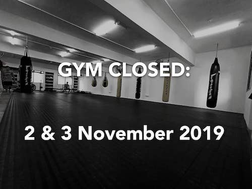 Gym closed announcement